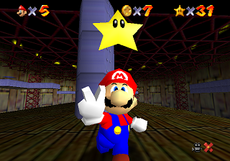 Mario made his 3-D debut in Super Mario 64.