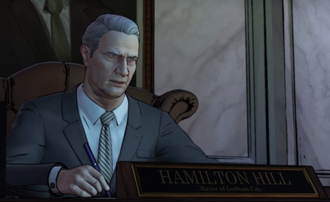 Hamilton Hill (comics) - Mayor Hamilton Hill as seen in Batman: The Telltale Series.