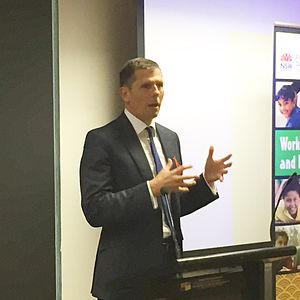 Michael Coutts-Trotter - Image: Michael Coutts Trotter speaking at an event