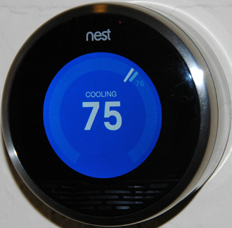 Nest Labs - The Nest Thermostat's front screen