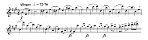 Symphony No. 5 (Nielsen) - The opening theme on 1st violin of the second movement