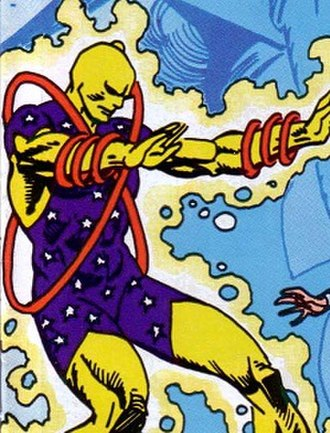 Reactron - Reactron, the Living Reactor, as depicted in his early appearances.