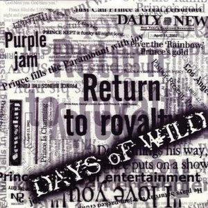 Days of Wild - Image: Prince dow single