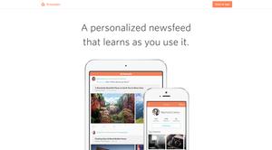 Prismatic (app) - Image: Prismatic Homepage screenshot, June 2014