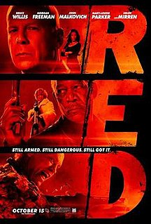 <i>Red</i> (2010 film) 2010 American action-comedy film directed by Robert Schwentke