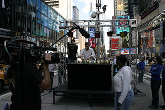 Roy Harter - Roy Harter giving a televised alpine bell performance in Times Square, New York