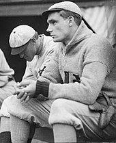 Rube Marquard of the New York Giants at the West Side Grounds in 1909.