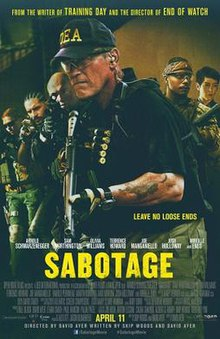 Sabotage (2014) Watch Online Full Movie Free Download Camrip English