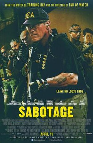 Sabotage (2014 film) - Theatrical release poster