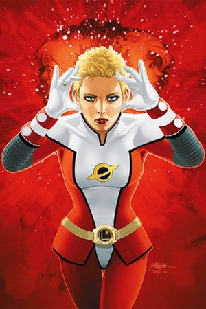 Saturn Girl - Image: Saturn Girl (Post Infinite Crisis version)