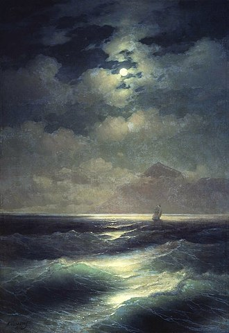 1878 in art - Image: Sea view by Moonlight
