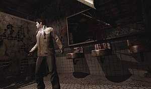 Silent Hill: Homecoming - The Otherworld begins to appear as paint falls from the walls and the ceiling light drops down.