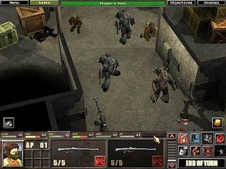 Silent Storm - An in-game screenshot showing troops and Panzerkleins