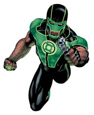 Green Lantern - Image: Simon Baz with gun