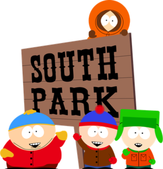 South Park - The main characters. Clockwise from the left: Cartman, Kenny, Kyle, and Stan.