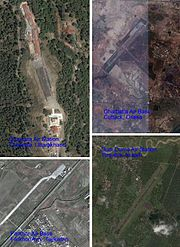 The ARC operating bases at (Clockwise from top right) 1.Military Charbatia Air Base Cuttack, Orissa 20°33'N 85°53'E, 2.Military Dum Duma Air Station, Tinsukia, Assam 27°33'N 95°34'E , 3.Farkhor Air Base Farkhor/Ayni, Tajikistan 37°28'N 69°22'EChakrata Air Station, Chakrata, Uttarakhand 30°42'N 77°51'E 4.Chakrata Air Station, Chakrata, Uttarakhand 30°42'N 77°51'E.