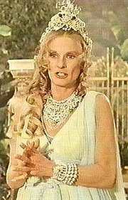 Leachman as Queen Hippolyte on the Wonder Woman series