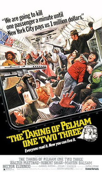 The Taking of Pelham One Two Three (1974 film) - Original film poster by Mort Künstler