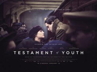 <i>Testament of Youth</i> (film) 2014 British drama film directed by James Kent