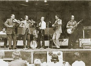 The Balfa Brothers - Ray Abshire playing with The Balfa Brothers at the Festival Acadian in Lafayette - 1974