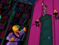 Homer cries out 'Be that word our sign of parting!'