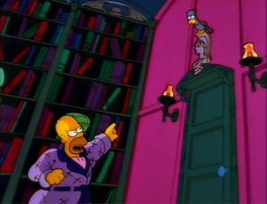 """The Raven in popular culture - The Simpsons version of """"The Raven"""" (3rd segment of the first Treehouse of Horror special): Homer cries out """"Be that word our sign of parting."""""""
