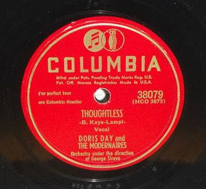 Thoughtless (Doris Day song) - Image: Thoughtless (Doris Day song)