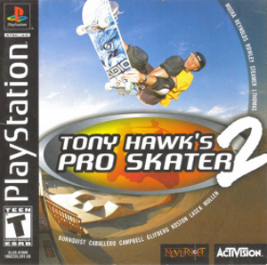 Tony Hawk's Pro Skater 2 - North American PlayStation cover art