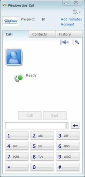 Windows Live Call - Windows Live Call in Windows Live Messenger.