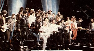 "YU Rock Misija - YU Rock Misija participants during the recording of the ""Za milion godina"" video."