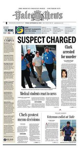 Yale Daily News - Image: Yale Daily News September 18 2009