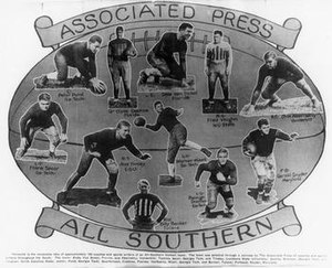 1928 College Football All-Southern Team - The Associated Press composite selection pictured.