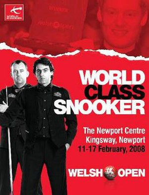 2008 Welsh Open (snooker) - Image: 2008 Welsh Open (snooker) poster