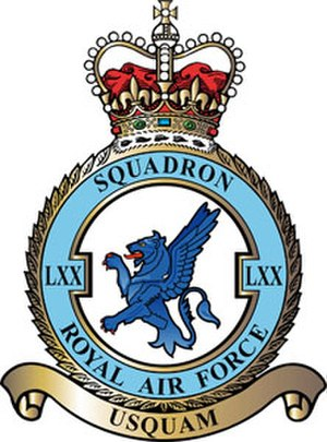 No. 70 Squadron RAF - 70 Squadron badge