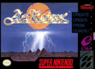 ActRaiser - Packaging for the Super NES version