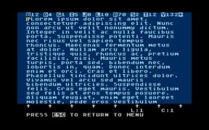 AtariWriter - Image: Atari Writer Screenshot