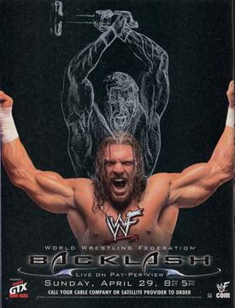 Backlash (2001) - Promotional poster featuring Triple H