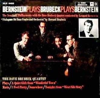 Bernstein Plays Brubeck Plays Bernstein - Image: Bernstein Plays Brubeck Plays Bernstein (album cover)