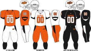 2009 Oklahoma State Cowboys football team - Image: Big 12 Uniform OSU 2009