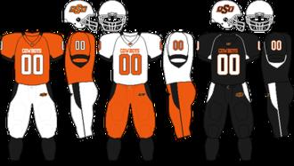 2009 Oklahoma State Cowboys football team - Image: Big 12 Uniform OSU 2009