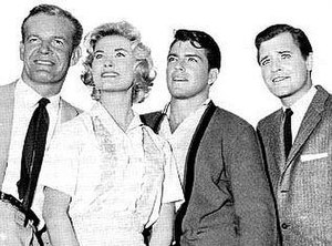 Bourbon Street Beat - Main Cast: Andrew Duggan, Arlene Howell, Van Williams and Richard Long in Bourbon Street Beat