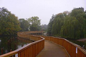 West Dulwich - Bridge through Lake in Dulwich Park