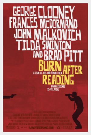 Burn After Reading - Theatrical release poster