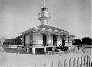 Cedar Key Light - The Cedar Key lighthouse around 1894.