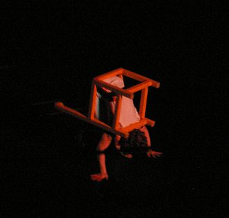 Chair acrobatics - Chair Contortionist