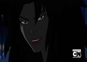 "Cheshire (comics) - Cheshire unmasked in the Young Justice episode ""Infiltrator."""
