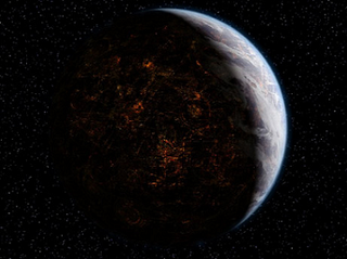 Coruscant planet in the Star Wars universe