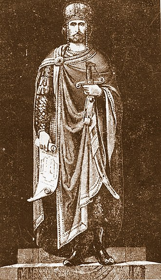 David IV of Georgia - A later depiction of King David by an unknown artist