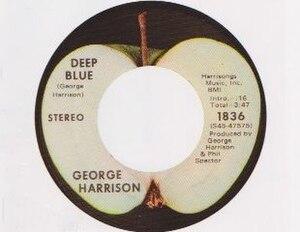 Deep Blue (song) - Image: Deep Blue single label