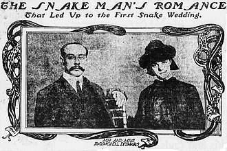 Raymond Ditmars - Image: Ditmars's marriage, New York World, February 6, 1903